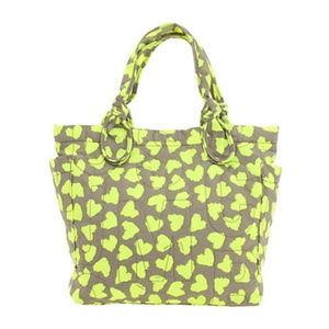 Marc Jacobs NylonTote Bag Gray Yellow Hearts